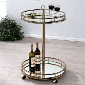 Curland Contemporary Serving Bar Cart by ..