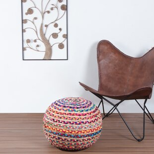 Makris Jute Spiral Pouf by Bungalow Rose