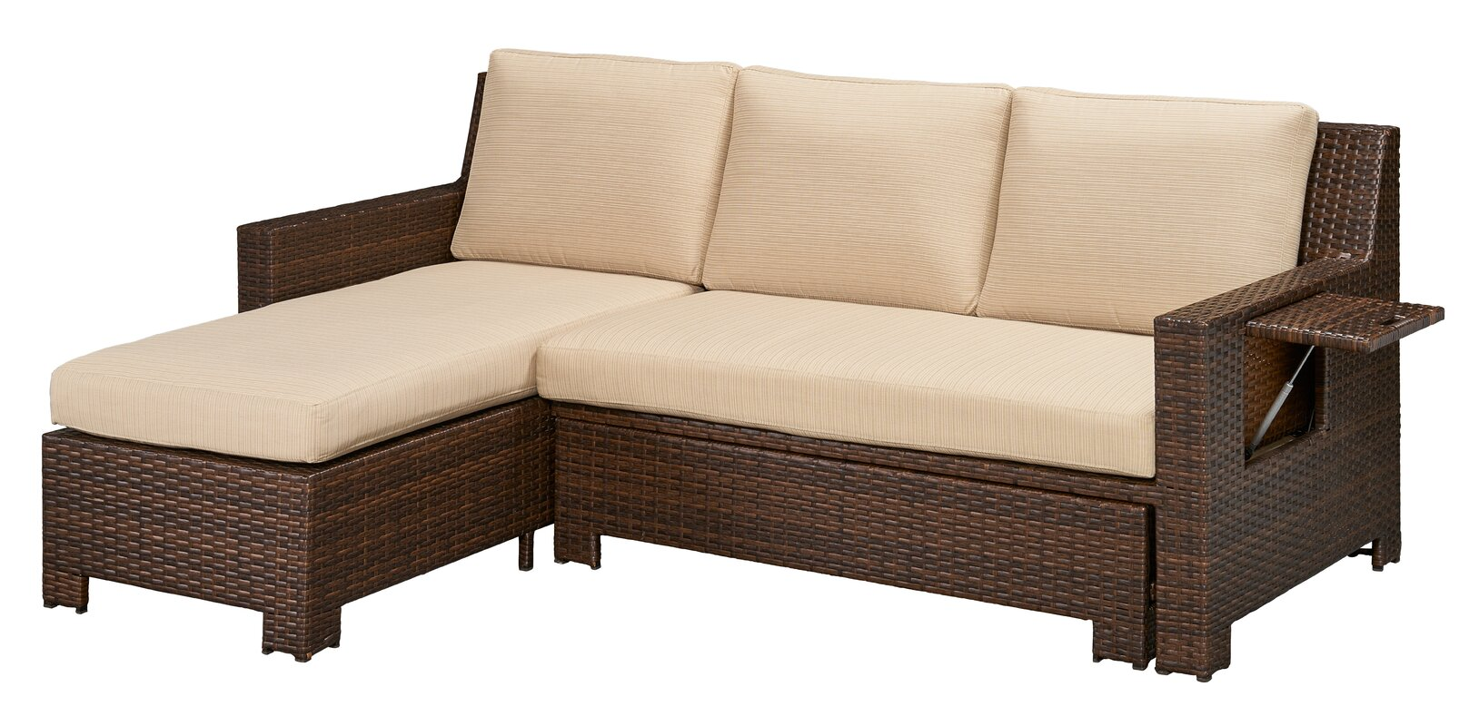 Darby Home Co Ferndale Deck Convertible Sectional Sofa with