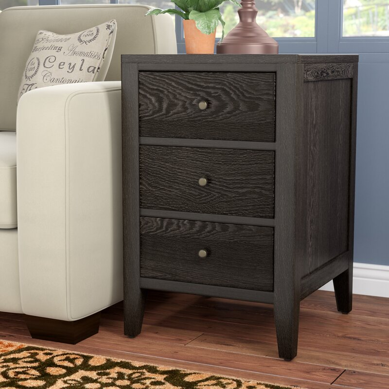 Barbican 3 Drawer End Table
