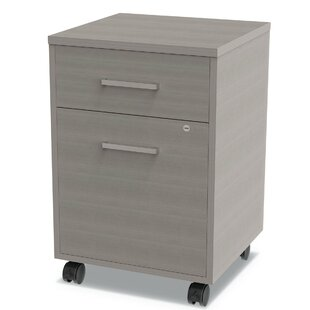 Linea Italia Urban Pedestal 2-Drawer Mobile Vertical Filing Cabinet by Tennsco Corp.