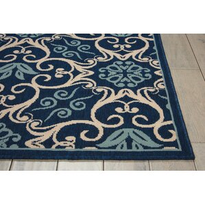 Carleton Navy Indoor Outdoor Area Rug