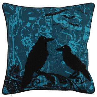 Halloween Crow Throw Pillow