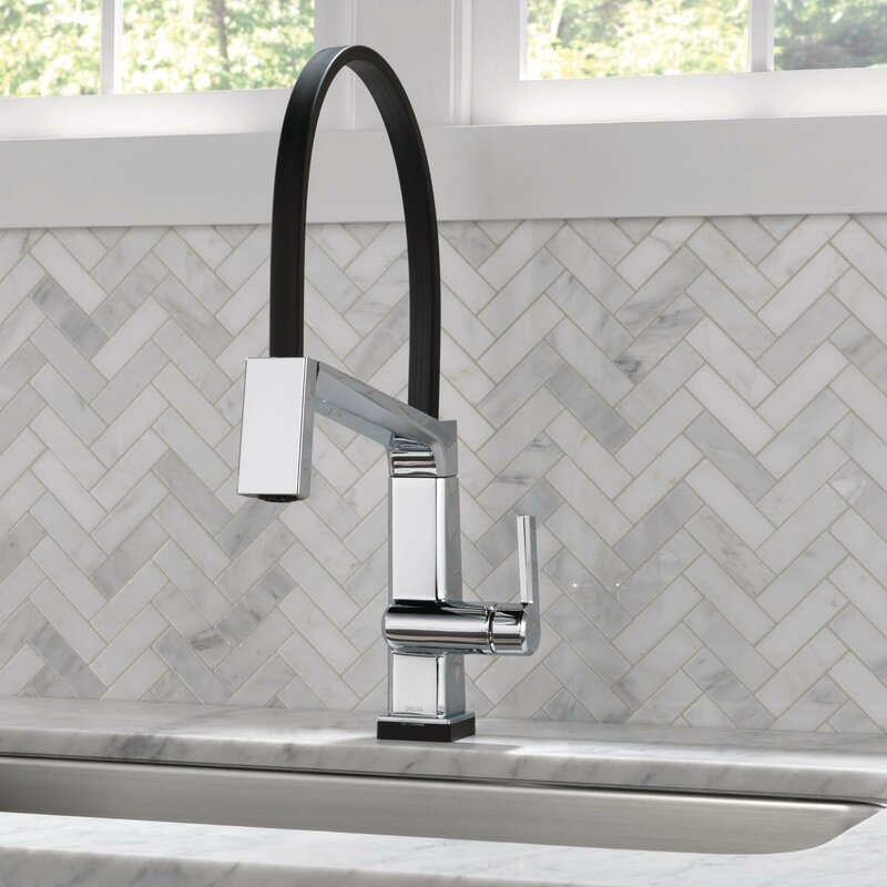 Delta Pivotal Touch Single Handle Kitchen Faucet With