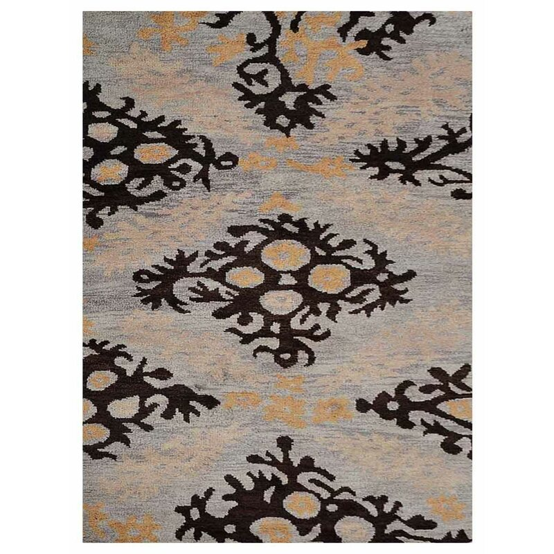 Latitude Run Kenshawn Hand Knotted Wool Beige Area Rug Wayfair
