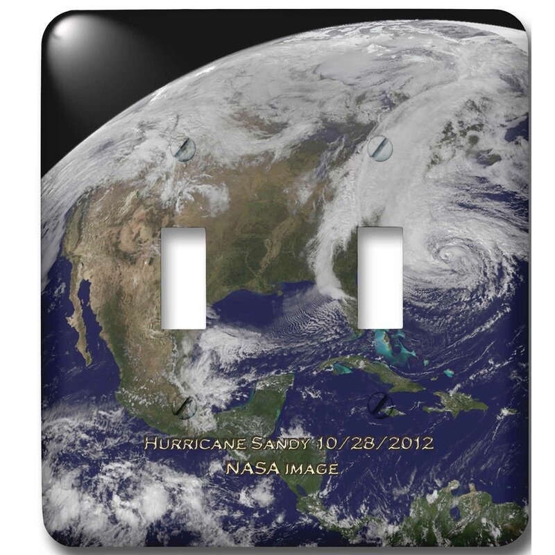 3drose Hurricane Sandy Nasa Earth Observatory 2 Gang Toggle Light Switch Wall Plate Wayfair