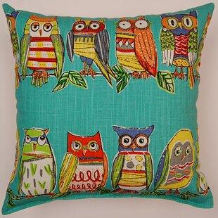 Hoot Cotton Throw Pillow