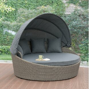 Dusek Patio Daybed With Cushions By Rosecliff Heights