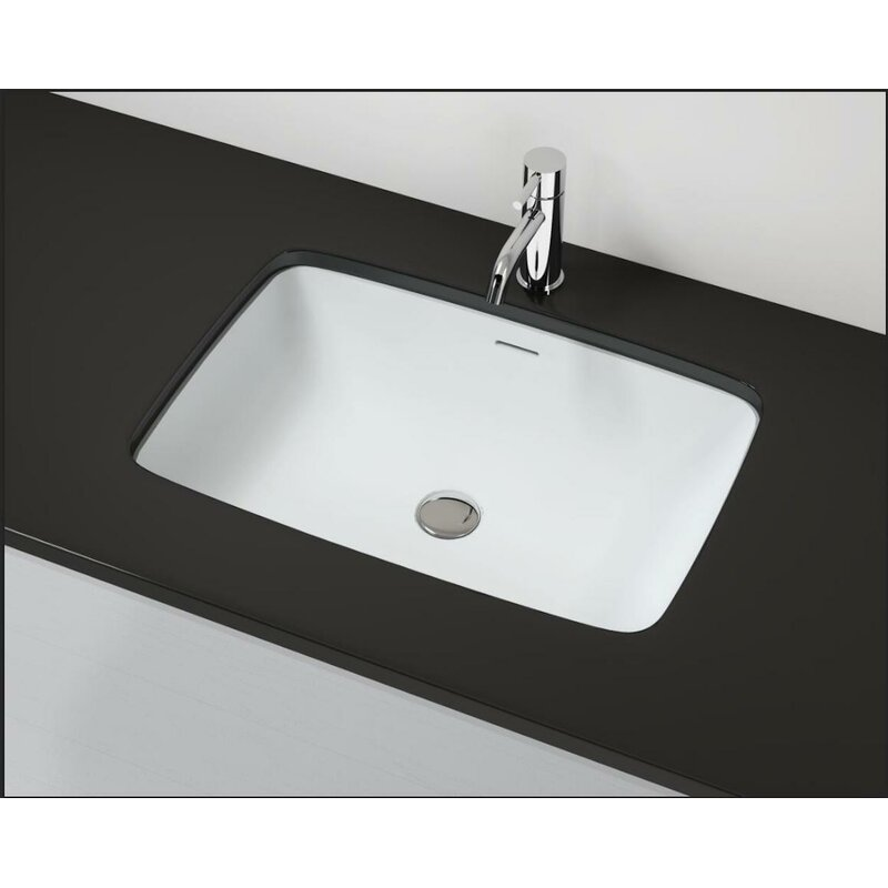 Badeloft Stone Rectangular Undermount Bathroom Sink Wayfair