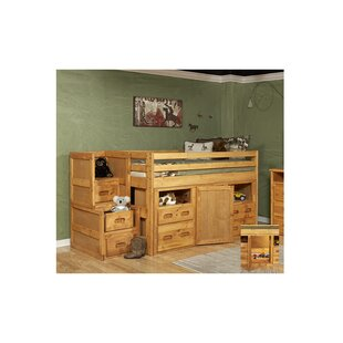 Kepler Twin Junior Loft Bed with Storage & Stairway Chest by