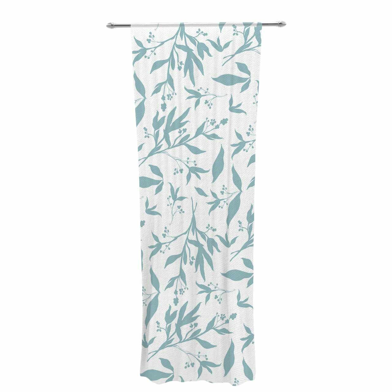 East Urban Home Zara Martina Leafy Silhouettes Nature Floral Sheer Rod Pocket Curtain Panels Reviews