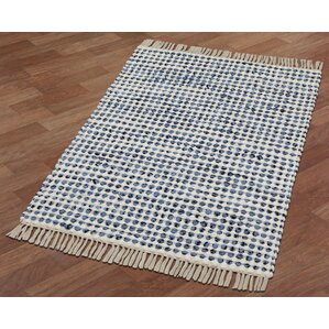 complex handloomed bluewhite area rug