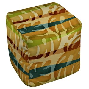 Tropical Leaf 1 Ottoman by Manual Woodworkers & Weavers