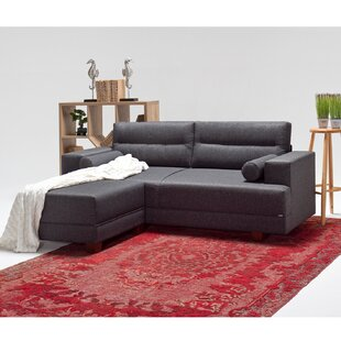 Mikes 82 Left Hand Facing Sectional with Ottoman by Latitude Run