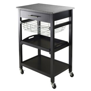 Julia Kitchen Cart With Granite Top by Winsome Herry Up