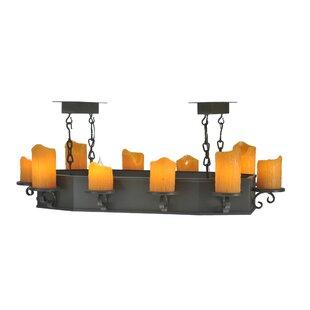 Meyda Tiffany 10 Light Oblong Pendant