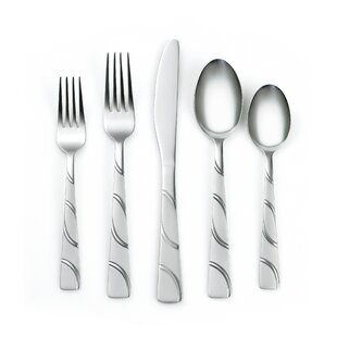 Coordinates Darcy 20 Piece Flatware Set, Service for 4