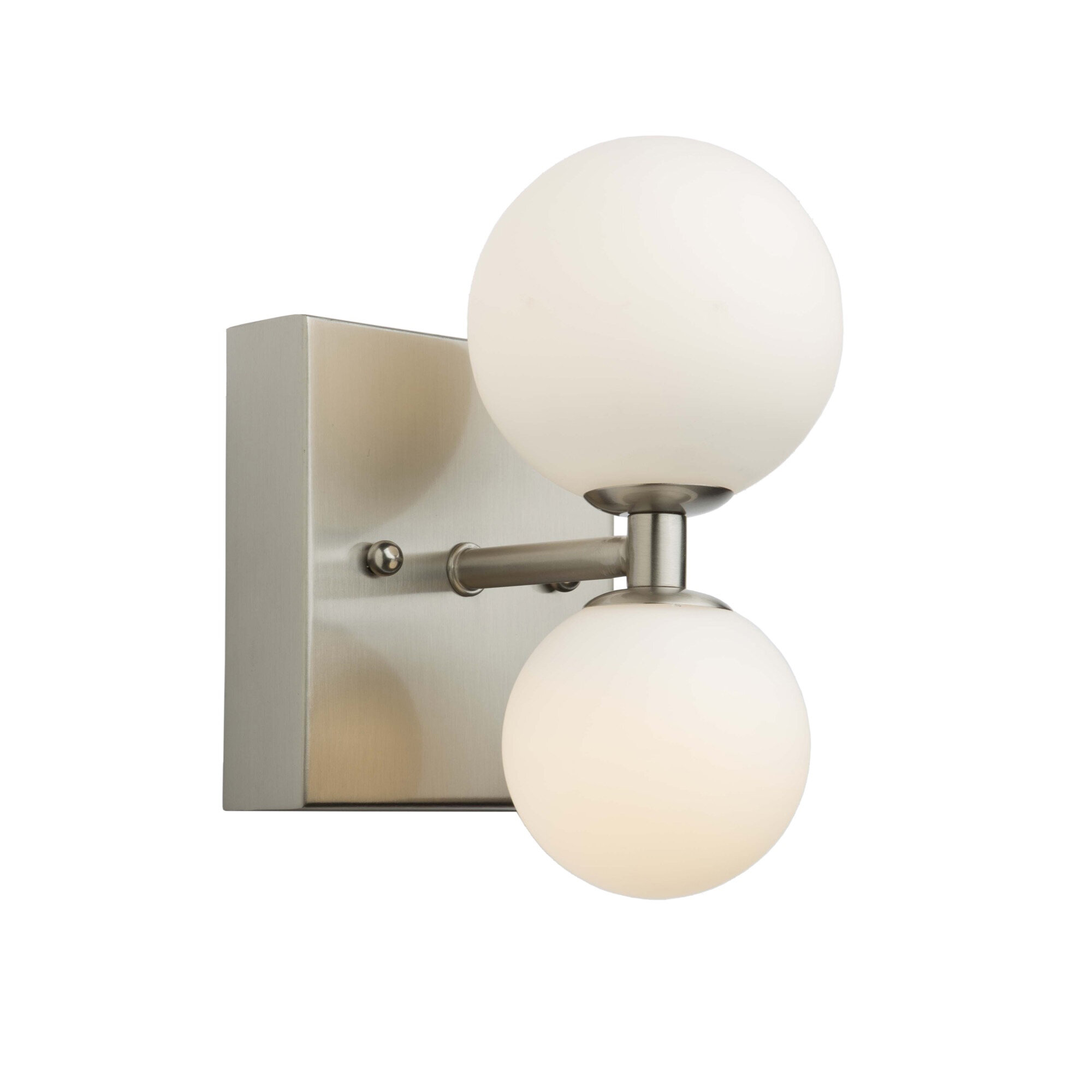 George Oliver Haygood 2 Light Led Dimmable Brushed Nickel Armed Sconce Wayfair Ca