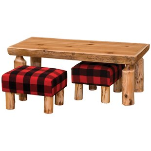 Fireside Lodge Cedar Open 3 Piece Coffee Table Set