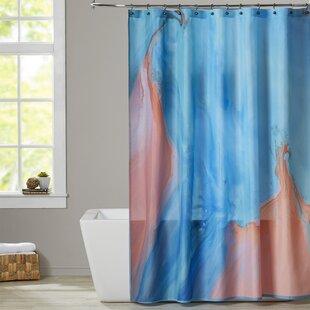 Reviews Deb McNaughton Marble Shower Curtain ByBrayden Studio