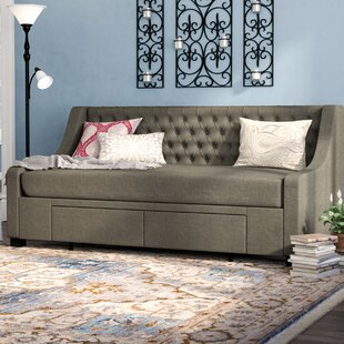 Aron Twin Upholstery Storage Daybed by Darby Home Co