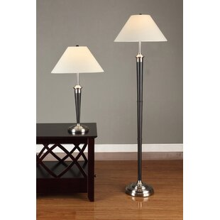 Artiva USA 2 Piece Table and Floor Lamp Set