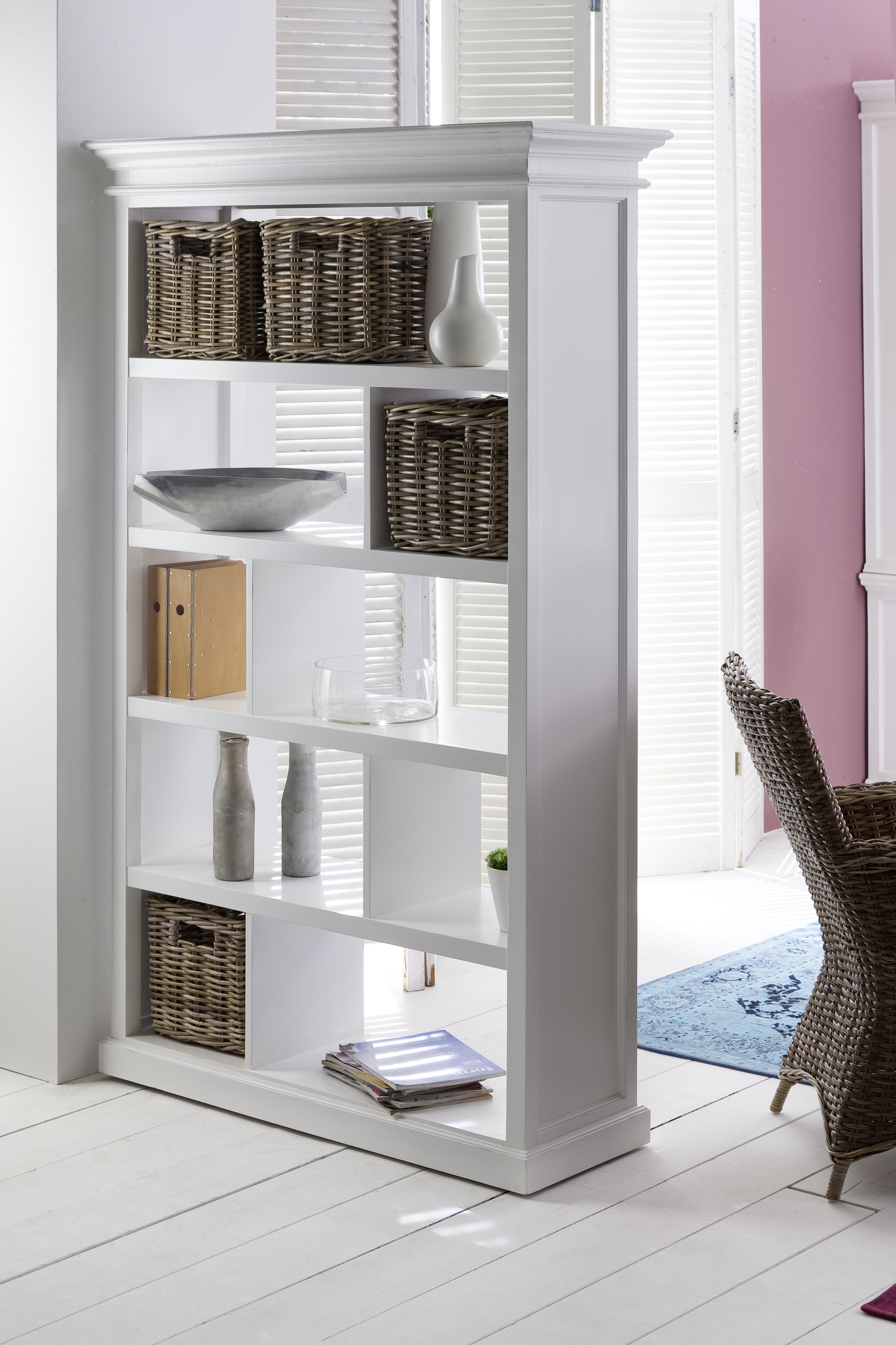 Beachcrest Home Clarewood 748 X 4725 Room Divider With Basket