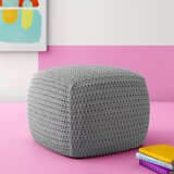 Seline Knitted 20.5 Square Pouf Ottoman by Hashtag Home