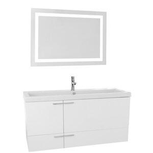 New Space 47 Single Bathroom Vanity Set with Mirror Nameeks Vanities