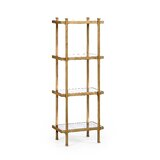 54.75 H x 20 W Metal Etagere Bookcase by Jonathan Charles Fine Furniture