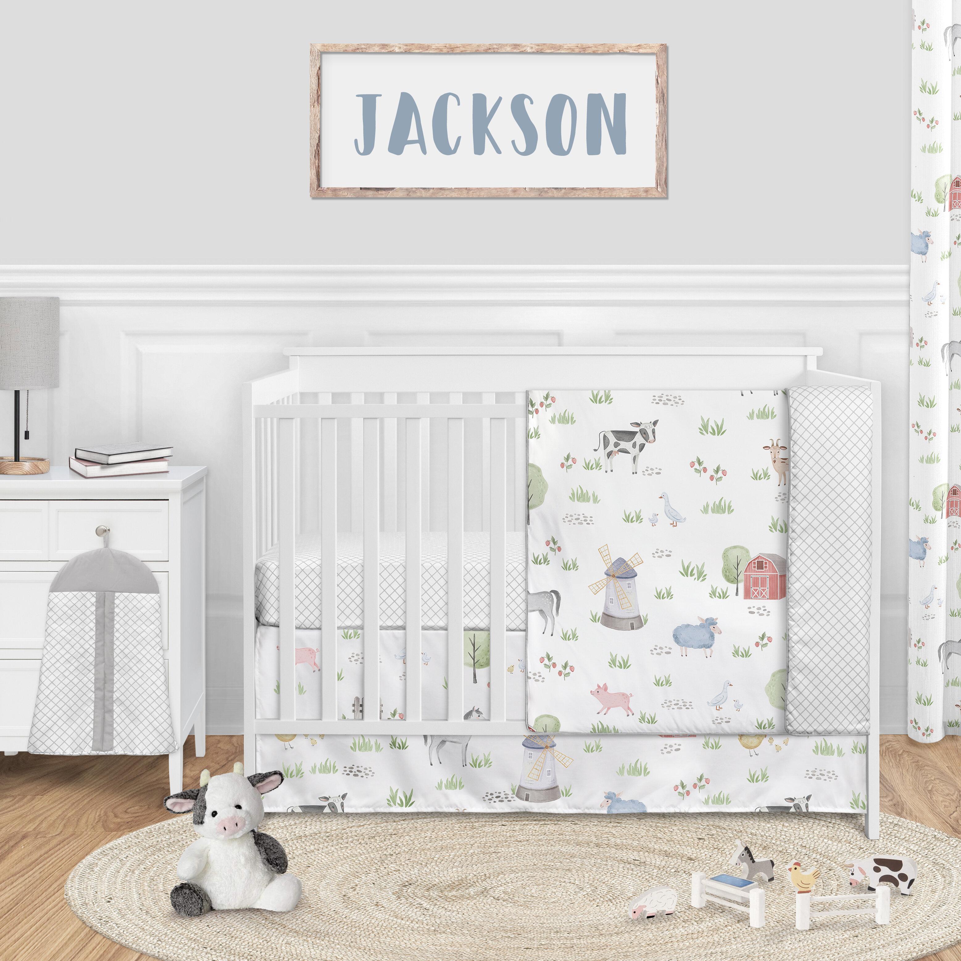 Sweet Jojo Designs Farm Animals 4 Piece Crib Bedding Set Reviews Wayfair
