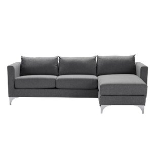 Reviews Vess Reversible Sectional by Orren Ellis Reviews (2019) & Buyer's Guide