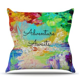 Adventure Awaits By Ebi Emporium Outdoor Throw Pillow by East Urban Home