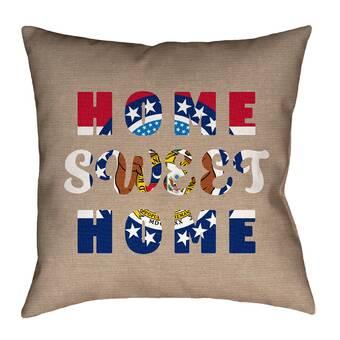 Ebern Designs Fawcett Home Sweet Kentucky Pillow Wayfair