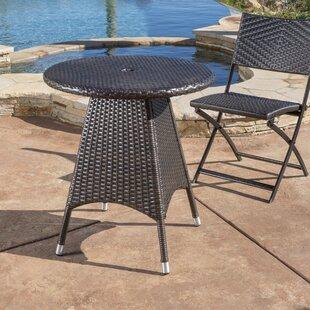 Orren Ellis Brissette Outdoor Wicker Bistro Table