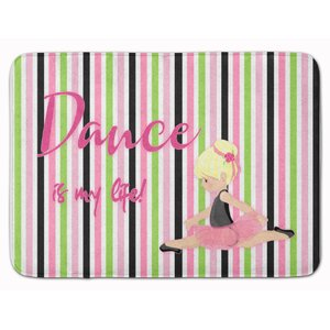 Ballet Dance is my Life Brunette Memory Foam Bath Rug