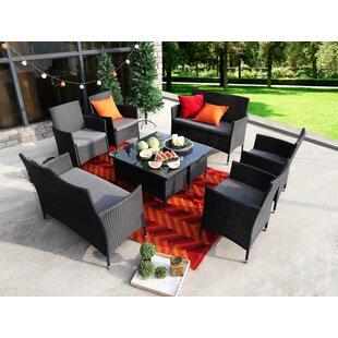 Kacey 8 Piece Sofa Set with Cushions