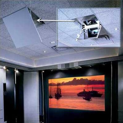 The Revelation Motorized Ceiling Recessed Projector Mount