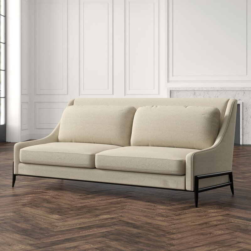 Slope Arm Mid-Century Sofa