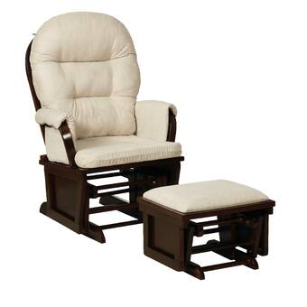 Awe Inspiring Viv Rae Griffin Glider And Ottoman Reviews Wayfair Machost Co Dining Chair Design Ideas Machostcouk