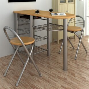 3 Piece Pub Table Set (Set of 3) Ebern Designs
