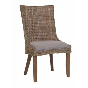 Rosecliff Heights Southchase Wicker Woven Dining Chair (Set of 2)