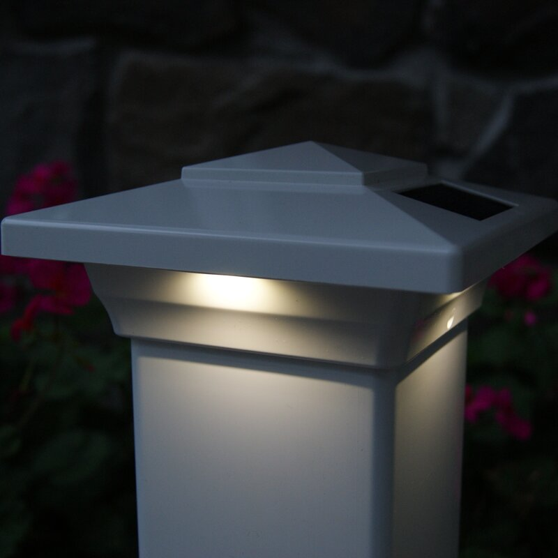 solar lights for fence post cap