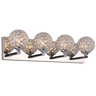 Everly Quinn Launcest 4-Light LED Vanity Light