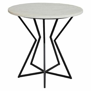 Raiford Marble Top Cross Legs End Table By 17 Stories