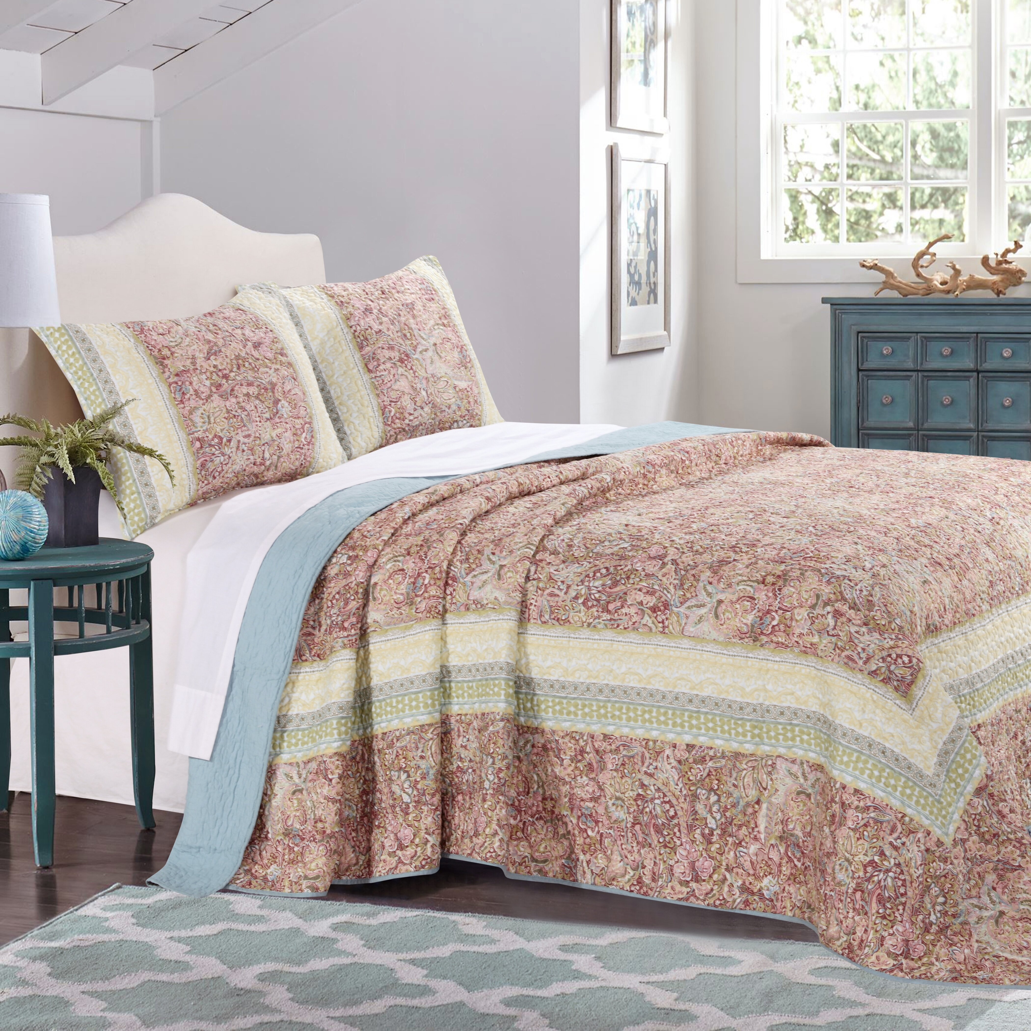 quilt set reviews pdp bedspread quilted bed lane piece bath keyport birch coverlet