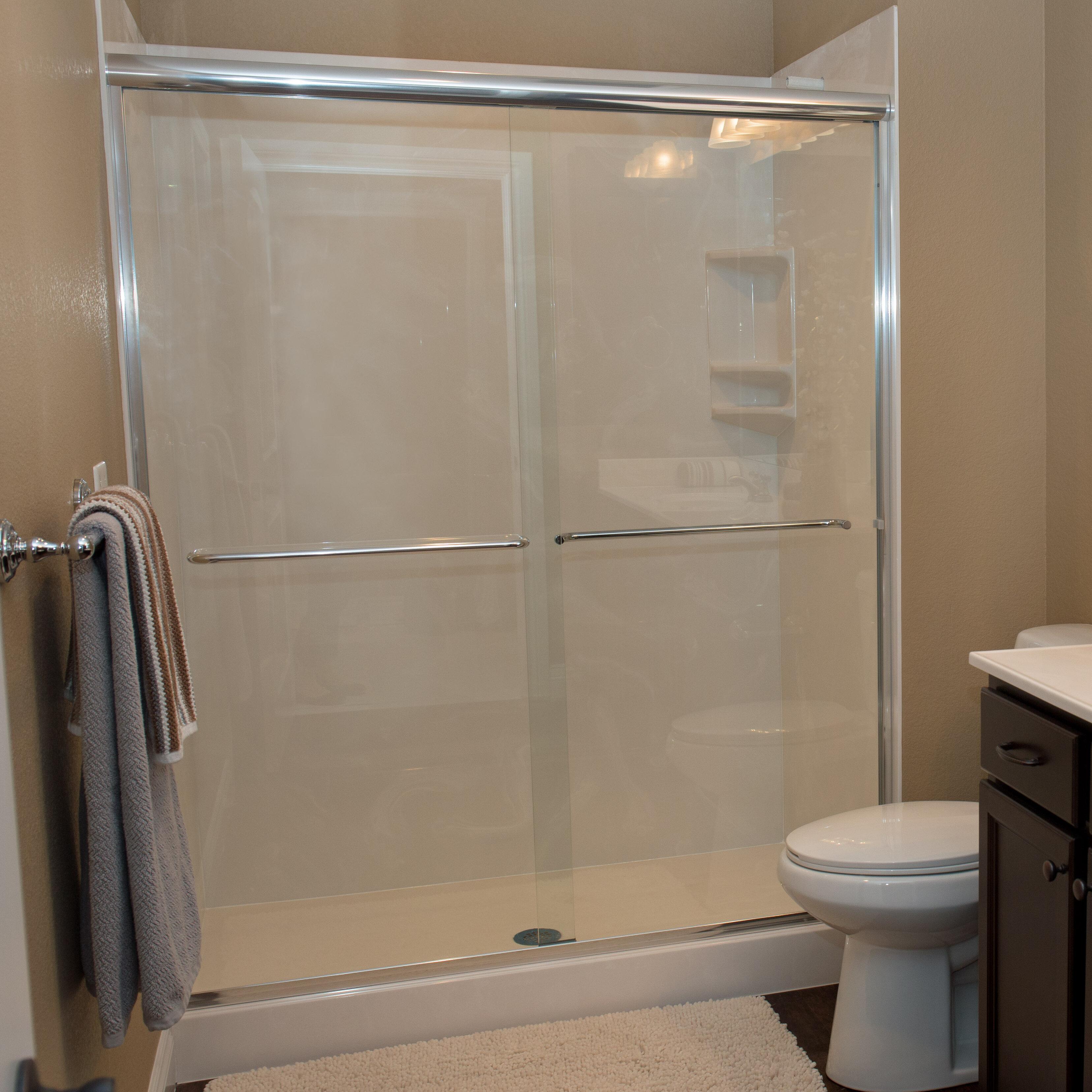 Bull Shoals 54 75 X 56 Byp Semi Frameless Shower Door Slider