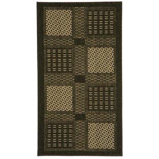 Halvorsen Black/Sand Indoor/Outdoor Area Rug