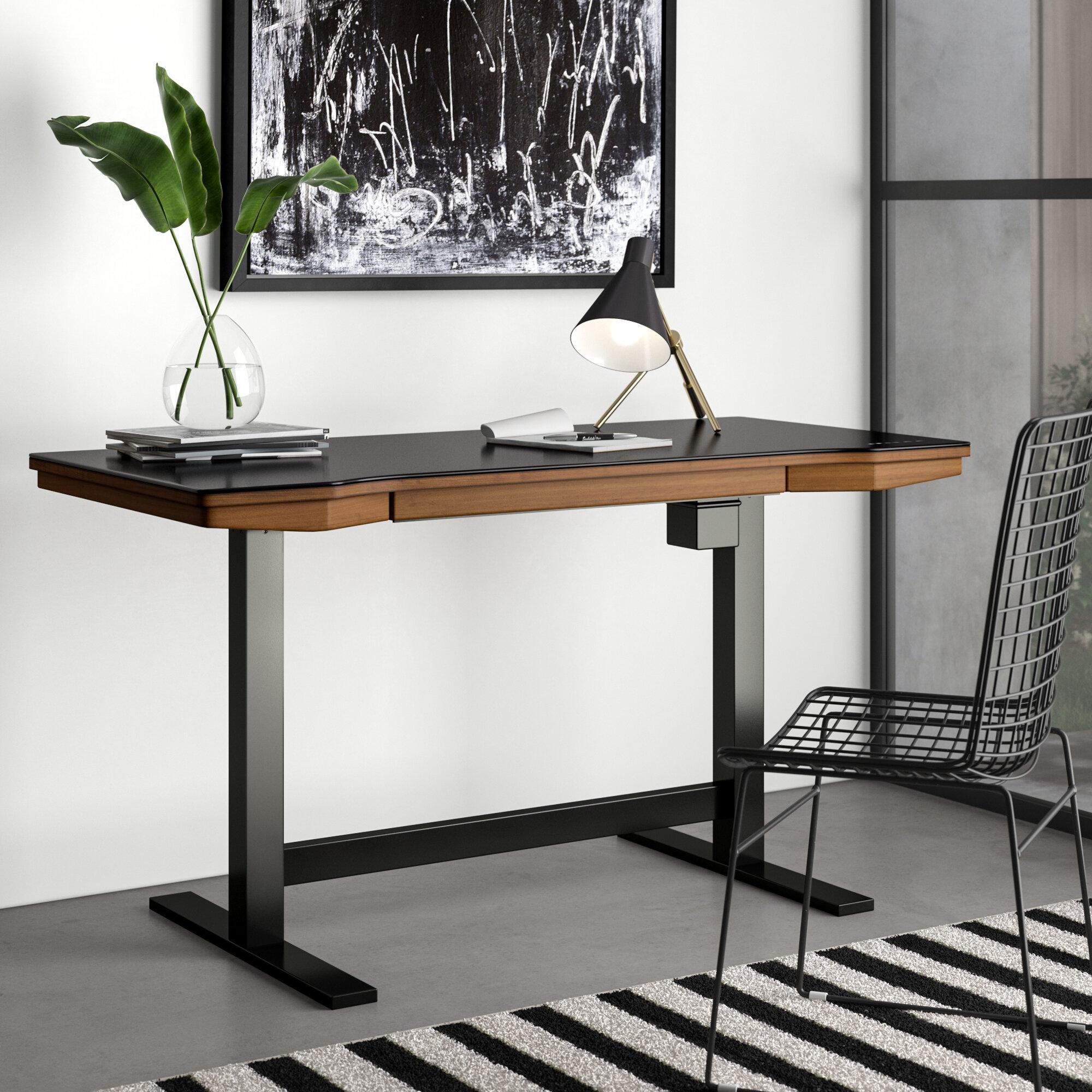 Image of: Tedford Height Adjustable Standing Desk Reviews Allmodern