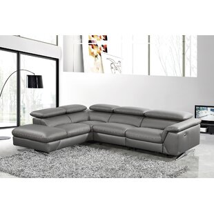 Check Prices Effendi Reclining Sectional by Orren Ellis Reviews (2019) & Buyer's Guide